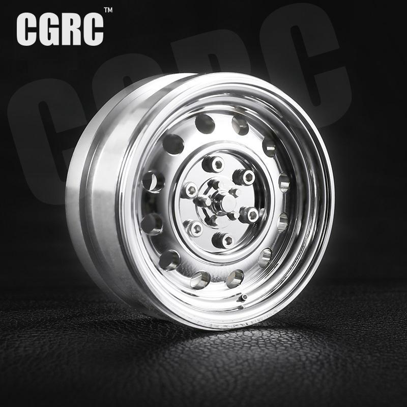 4pcs Metal Plating 1 9inch Beadlock Wheels Rim For 10 Rc Crawler Car Trx4 Bronco Axial