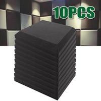 10 шт. 300x300x50 мм пена для звукоизоляции акустические панели студийная плитка абсорбционная плитка пенополиуретан