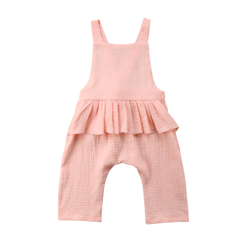 Newborn Baby Girls Summer Ruffle   Romper   Jumpsuit Playsuit Clothes Outfit 0-3Y