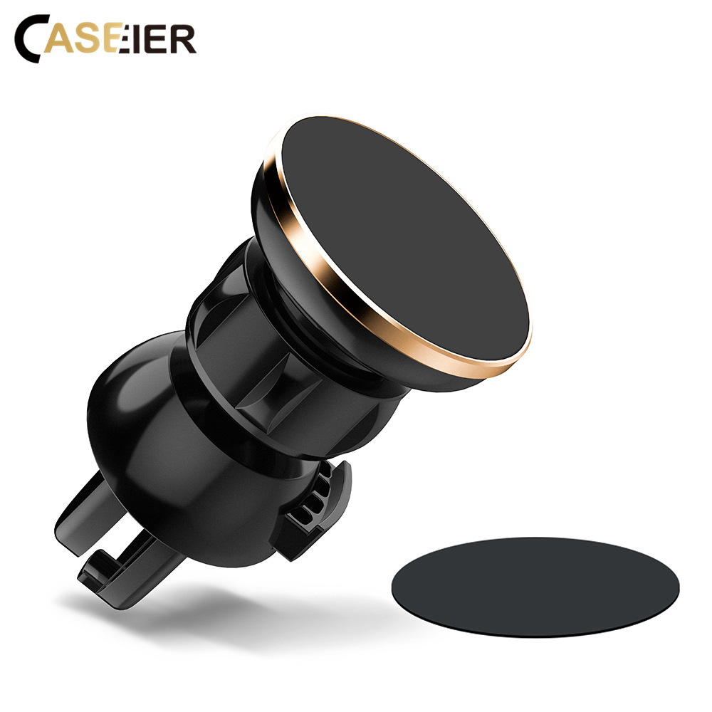 CASEIER Universal Magnetic Car Phone Holder For IPhone X XS XR Air Vent Mount Magnet Car Holders For Mobile Phone 360 Rotation