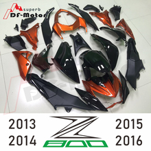 Body Kits for Kawasaki Z800 2013 - 2016 Black orange 2014 Fairings