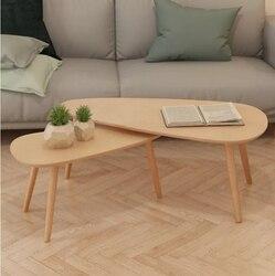 Журнальный столик VidaXL из 2 предметов, журнальные столики из цельного соснового дерева коричневого цвета, можно использовать как подставки д...