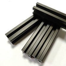 1PC/lot BLACK 2020 European Standard Anodized Aluminum Profile Extrusion 100-800mm Length 3D printer frame