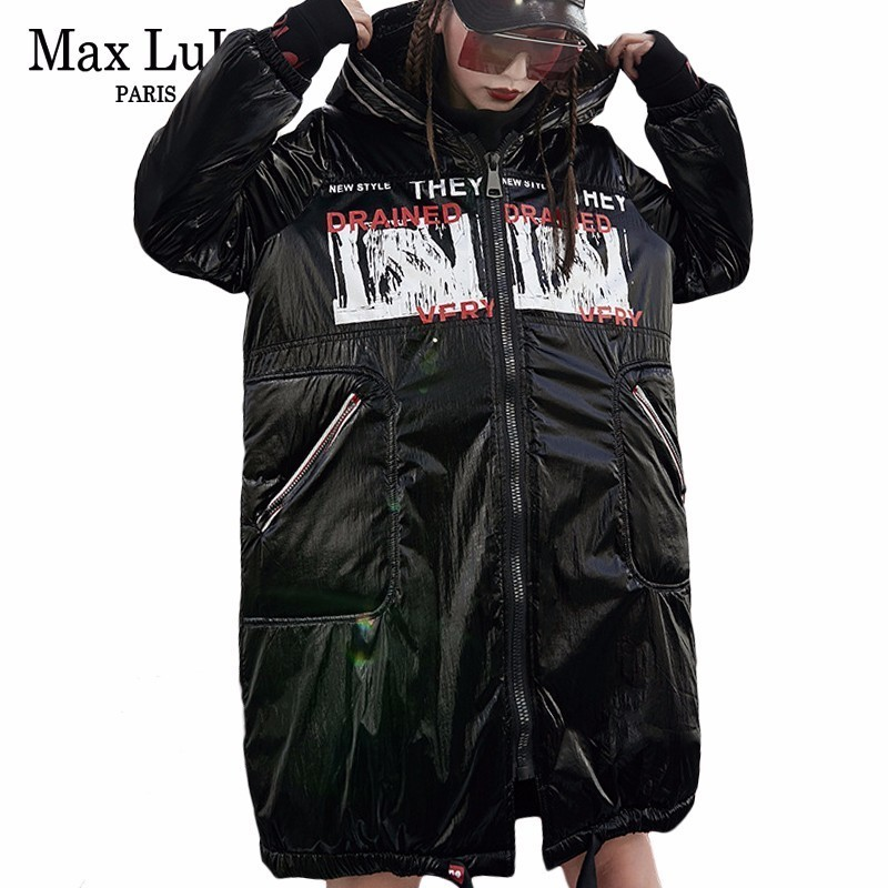 Max LuLu Luxury Brand Korean Ladies Hooded Long Parkas Womens Warm Winter Jacket Padded Clothes Female
