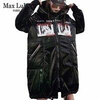 Max LuLu Luxury Brand Korean Ladies Hooded Long Parkas Womens Warm Winter Jacket Padded Clothes Female Snow Hat Coat Plus Size
