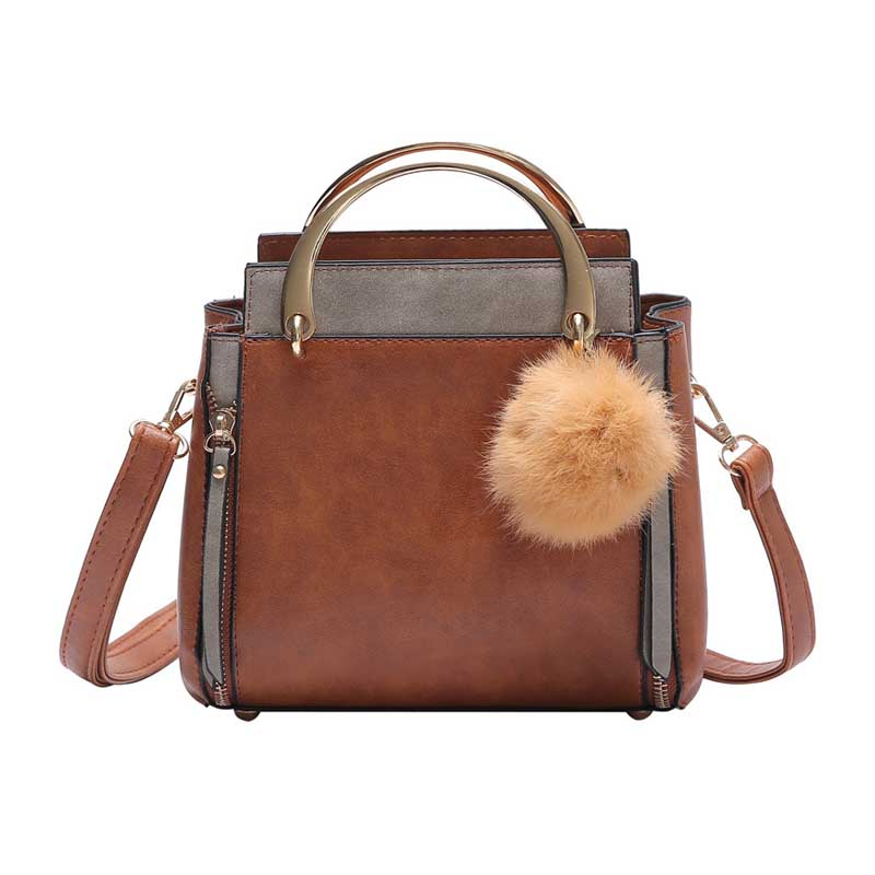Shoulder Bags Women Fashion Pu Leather Handbag Exquisite Female Pompom Shoulder Bag Travel Lady Mini Tote Crossbody Holiday Bolsa Ss7057 Highly Polished