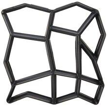 Черный пластик, сделай сам, форма для мощения, домашний сад, пол, дорога, бетон, Шаговая дорожка, каменная дорожка, форма для патио, производитель