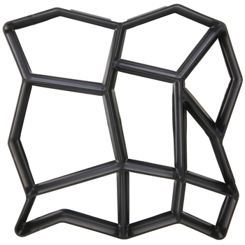Schwarz Kunststoff, Der DIY Pflaster Form Hause Garten Boden Straße Beton Stepping Einfahrt Stein Pfad Form Terrasse Maker