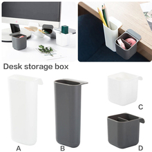 Stick On Desktop Stationery Desk Organizer Brush Pot Plastic Pen Holder Pencil Box Office Makeup Storage все цены