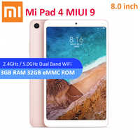 Original Xiaomi Mi Pad 4 Tablet PC 8.0 MIUI 9 Snapdragon 660 Octa Core 3G 32G 5.0MP 13.0MP Dual Cameras Dual WiFi Bluetooth 5.0
