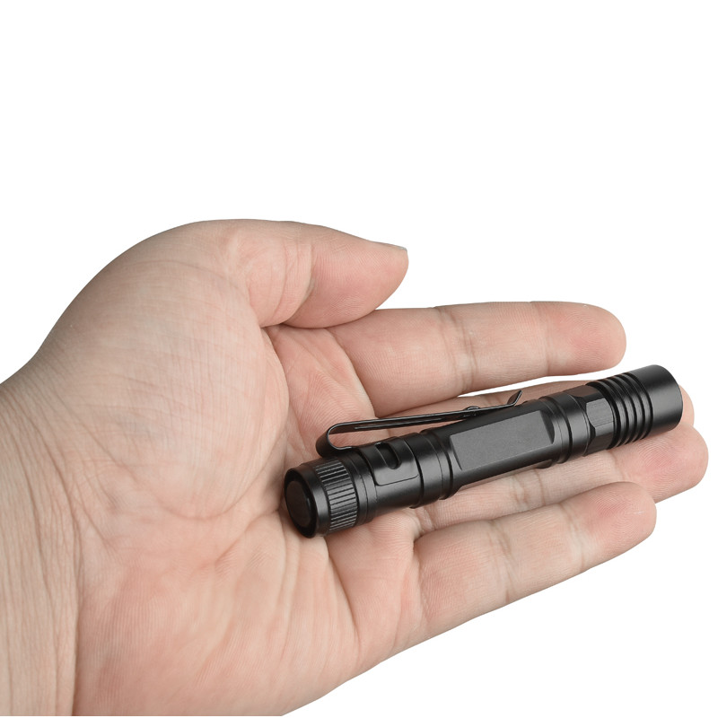 XANESPortable Mini Penlight XPE LED Flashlight Torch 600Lumens Simple Mode Easy Operation Brightness EDC Tactical LED Flashlight
