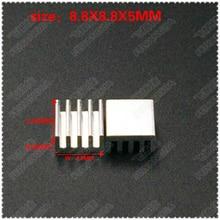 ( Free shipping) 30PCS Aluminum Cooling Heat sink Mos Chip CPU GPU VGA RAM LED IC Heatsink 8.8*8.8*5MM