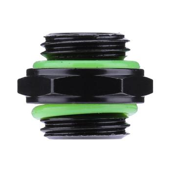 1pcs G1/4 Dual External Thread Tube Connector Roll lace Outer 6 Corners Design for PC Cooler Water Cooling System Tube Accessory