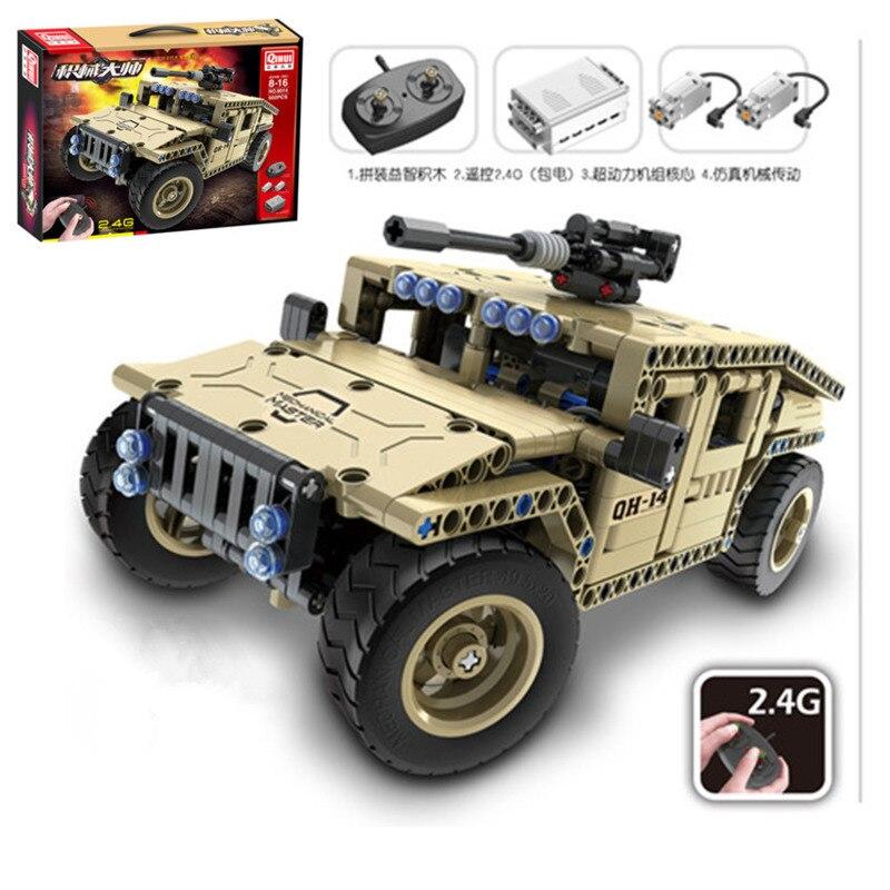 Oyuncaklar ve Hobi Ürünleri'ten Bloklar'de 502 adet Teknik Askeri Uzaktan Kumanda RC Silahlı Araç Araba Teknik Askeri Şehir Yapı Taşları Tuğla DIY Oyuncak Çocuk'da  Grup 1