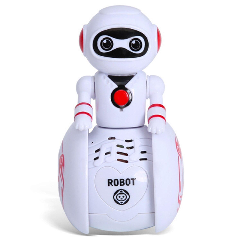 Mini Cartoon Intelligent Tumbler Music Induction Robot Toys Electronic Smart Sensors Tumbler Robot With Music Sounds Light Toy
