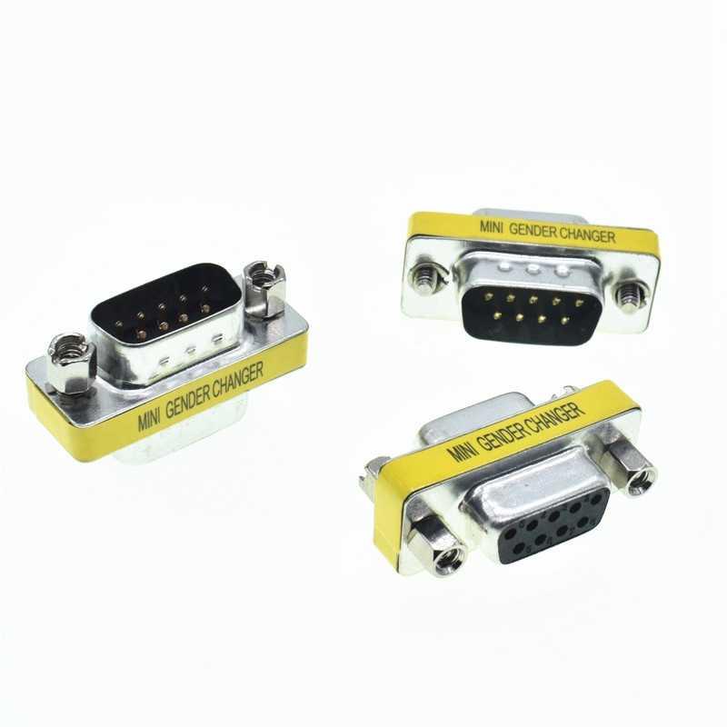 DB9 adaptateur Mini changeur de sexe | 9Pin mâle à mâle, connecteur série RS232 femelle à femelle, connecteurs d-sub pour homme