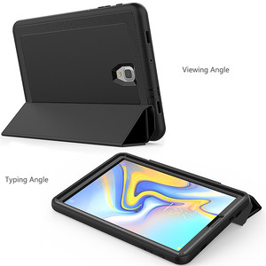 Image 3 - Case For Samsung Galaxy Tab A A2 2018 10.5 inch T590 T595 T597 SM T590 Smart Cover Funda Tablet Hard Skin Stand Shell +Film+Pen