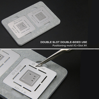 CPU Plant Tin Set for iPhone Chip A8 A9 A10 A11 A12 Reballing Stencils Mini BGA Platform Planting Tin Net Rework Station
