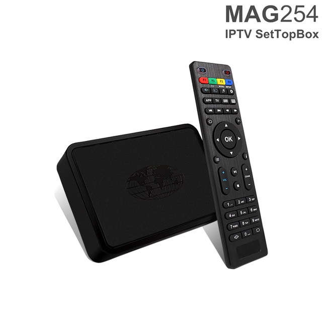 MAG254 Linux Turkish Portugal Brazil Latin USA Arabic French Europe Adult IPTV Box 4K Strong Tv Box MAG 254