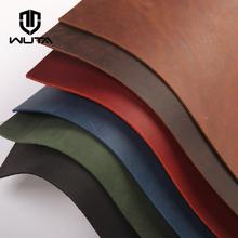 WUTA Crazy Horse Leather Material DIY Hand Leathercraft Vintage Oil Tanned Leather Piece Pull-Up Cowhide First Layer of Leather