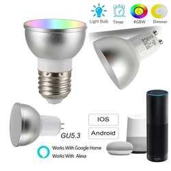 GU5 GU10 5 W WiFi смарт-приложение потолочный светодиодный светильник RGBW лампы дистанционного Управление работать с Alexa Echo Google Home IFTTT помощь 85-265 V