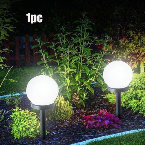 Energia Solare A Led Alimentato Lampada Della Lampadina 33cm Esterna Impermeabile Garden Street Pannello Solare Luci di Palla Prato Yard Paesaggio Decorativo