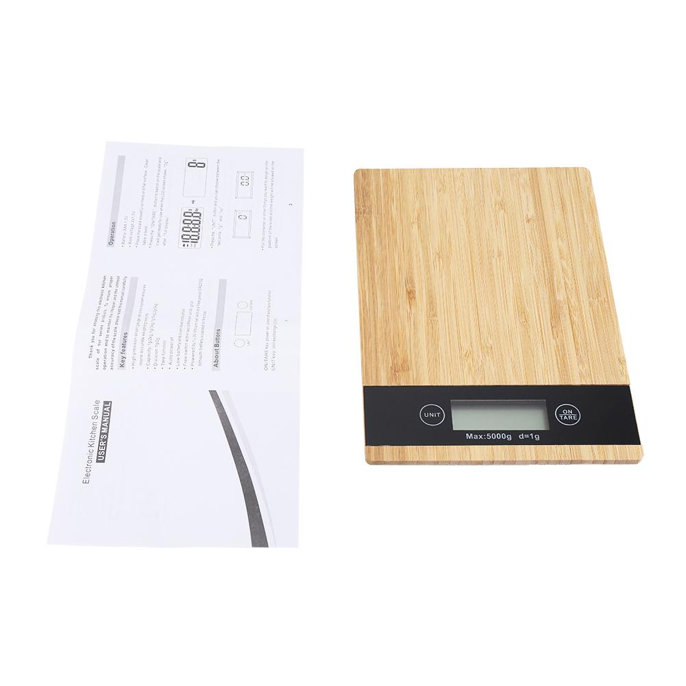 Digital Food Scale and Kitchen Scale with Wooden Surface And LED Display 4