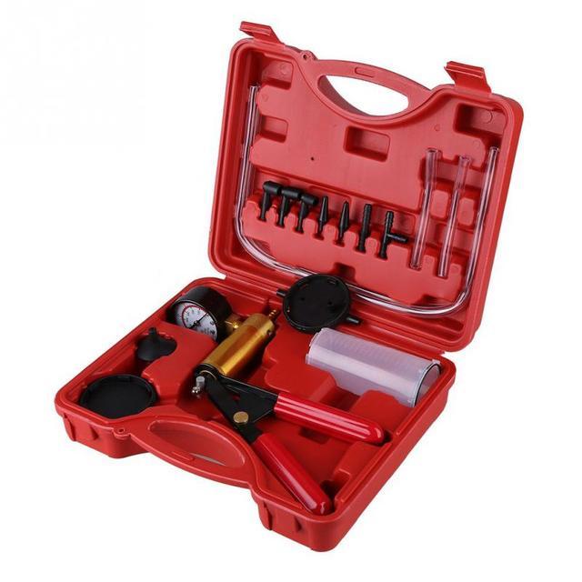 Oversea Hand Held DIY Brake Fluid Bleeder Tools Vacuum Pistol Pump Tester Kit Pressure Vacuum Gauge