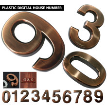 ABS пластик бронза самоклеющиеся 0-9 двери номера индивидуальные дом Адрес знак