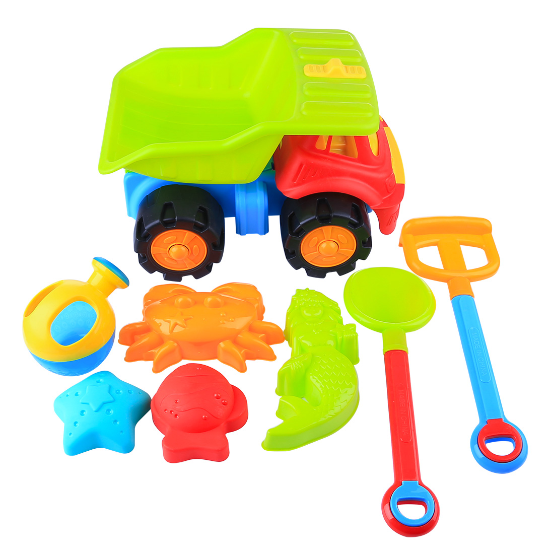 8Pcs Extra-Large L Summer Beach Sand Toys Plastic Beach Car Vehicle Playset Sand Clay Mold Sand Water Playing Tool Toy For Kids