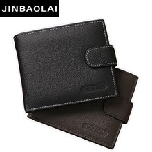 Fashion Leather Men Wallets Solid Sample Style Zipper Purse Man Card Horder Leather Famous Brand High