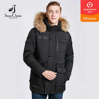 SnowClassic 2017 men fashion business casual large size fur tie hat cotton jacket jacket multi-pocket warm 17544 - DISCOUNT ITEM  42% OFF All Category