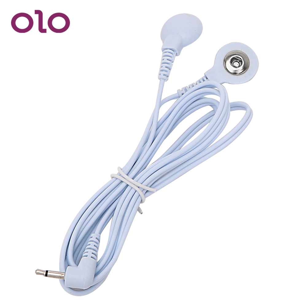 OLO Electric Shock Wire 2 Head Buckle Line 1 Shock Conversion Line Sex Toys Electro Stimulation Therapy Massager Accessories