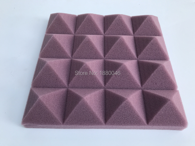 10pcs 30x30x5cm High Density White/Coffee color Retardant Pyramid Foam Sound Proofing Studio Acoustic Sound Absorption Flame