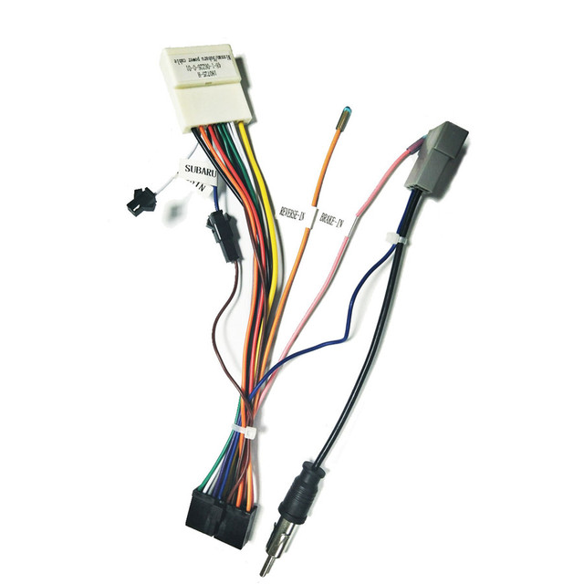 us $10 94 8% off 20 pin car stereo wiring harness connector adapter for 1din 2din android power cable harness suitable for nissan in cables, DMP Harness Cables