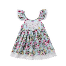 New Summer Flower Dress Girl Princess Costume Dresses Girl Party Hoilday Wear Tulle Kids Children Prom Gown Vestido Formal Dress