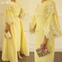 YNQNFS M169 элегантный халат из тафты Soiree Дубай мусульманское платье Вечерние 2 шт. Съемная мать невесты Жених платья для женщин 2019