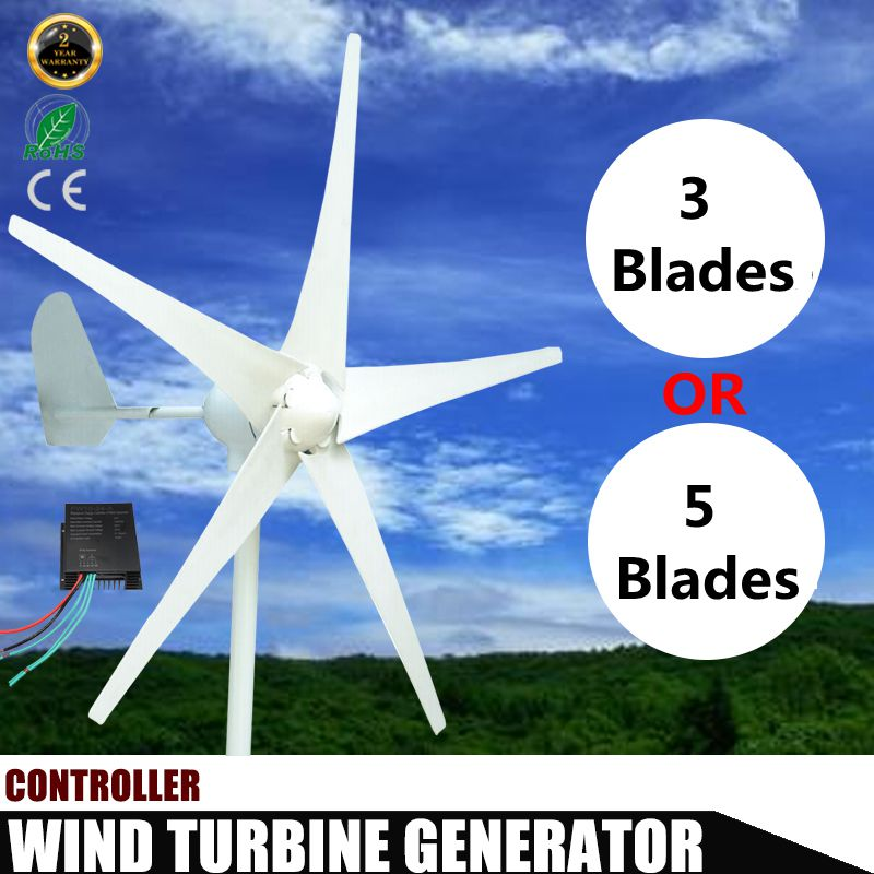 400W DC 12V 24V 3/5 Blade Wind Turbines Generator  with windmill Charge Controller Wind Power Generator400W DC 12V 24V 3/5 Blade Wind Turbines Generator  with windmill Charge Controller Wind Power Generator