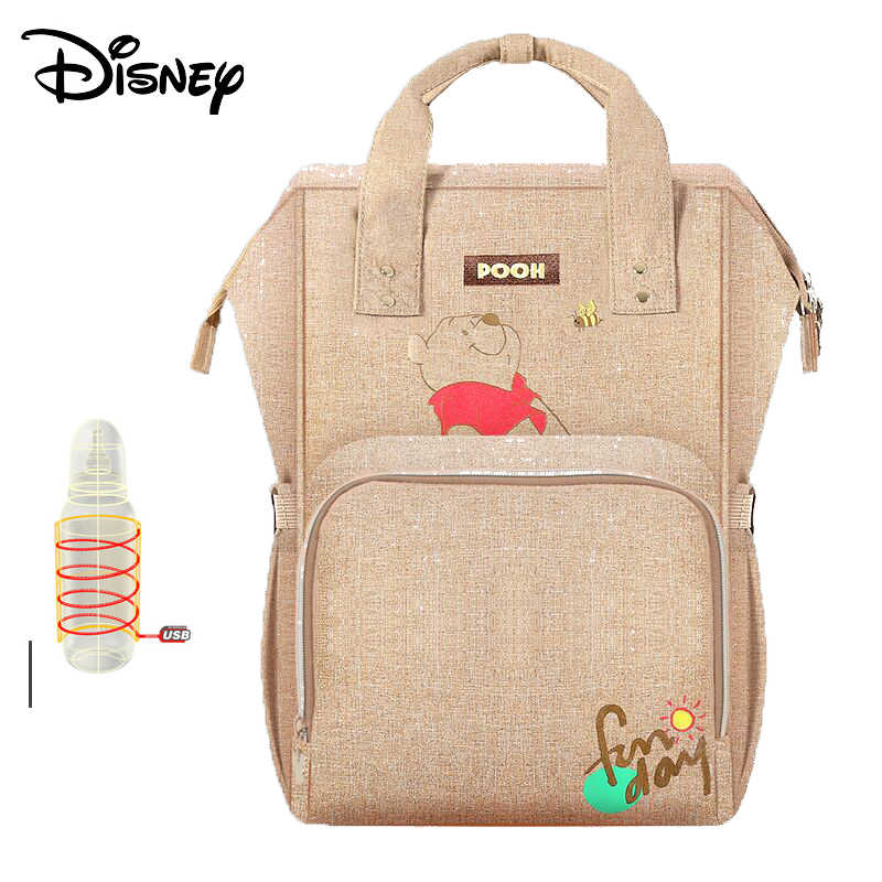 Disney Mummy Bag Multifunction Large Capacity Double Shoulder Travel Backpack  Baby Handbag Bottle Bag Fashion Insulation 22c13ec1742b