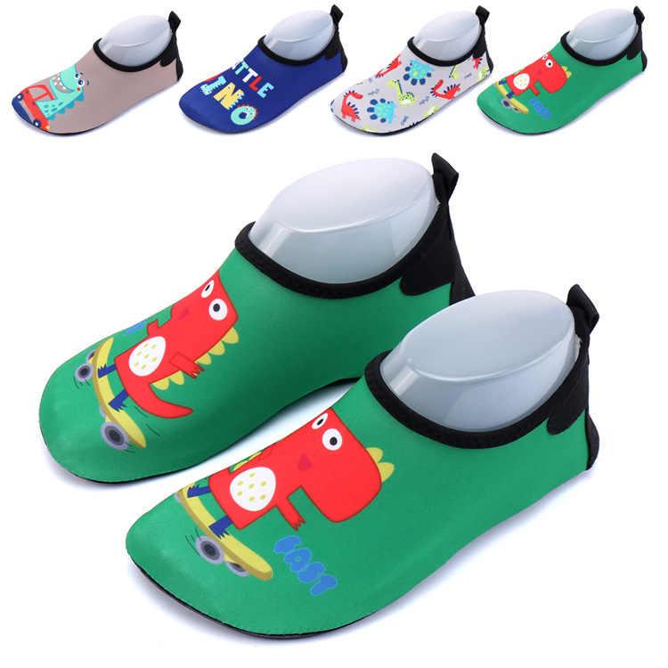 KRIATIV EU ขนาด 22-35 เด็กสาวเด็กน่ารักไดโนเสาร์รองเท้าชายหาดรองเท้าแตะ 5 รุ่น Non - slip quick แห้ง Breathable