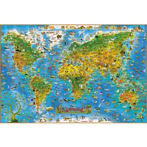 4 Type 1000 Piece Animals World Map Jigsaw Puzzle Toy 1000 Pieces Fish Dog lovely Wooden Paper Puzzles New Year Gift for Kids