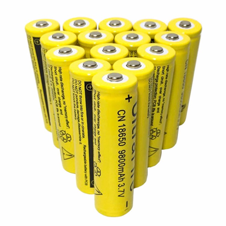 10PCS  3.7V 18650 9800mAh Battery Lithium Battery 9800mAh 3.7V Rechargeable Battery Li-ion Lithium Bateria For Flashlight
