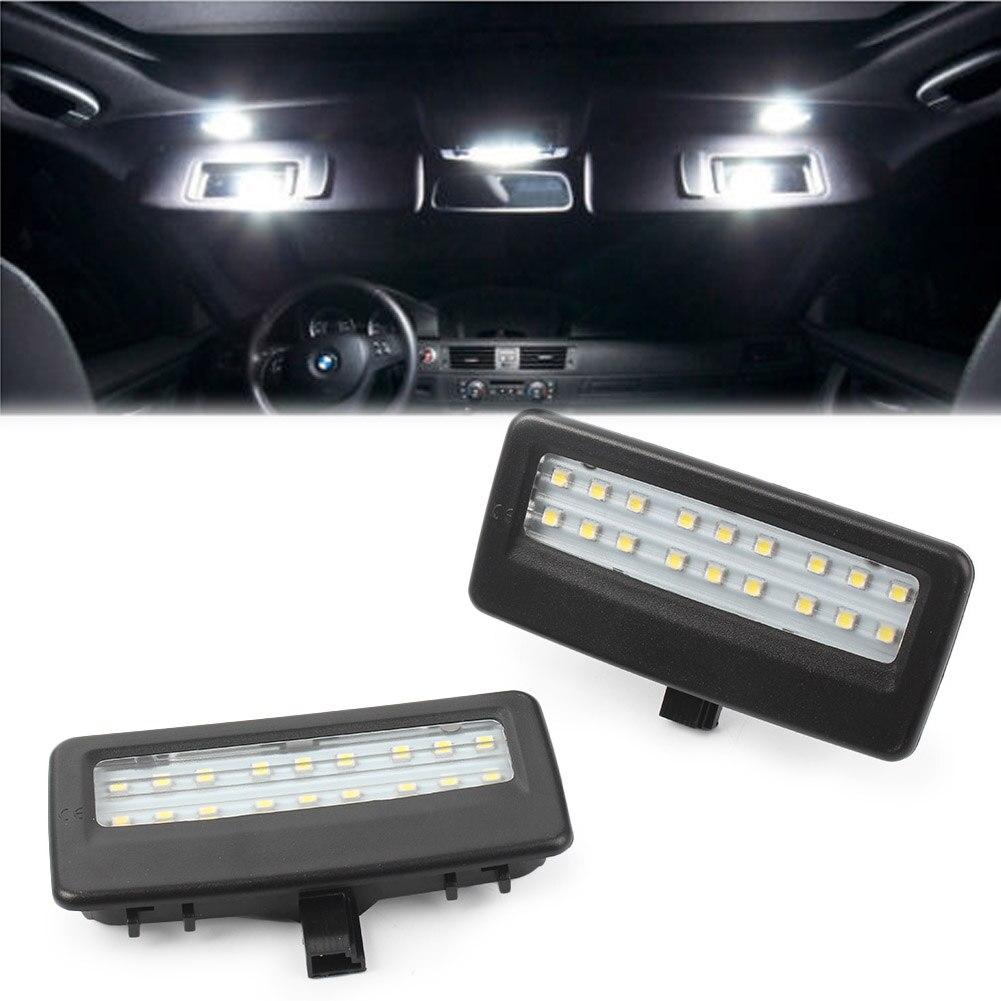 F10 F11 F07 Sunvisor Vanity Mirror LED Light White Xenon Black Housing for BMW