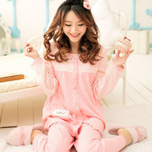 Купить с кэшбэком 2019 New Maternity Nightwear Pyjama Grossesse Pregnancy Nightwear Breastfeeding Pajamas Maternity Nursing Sets Long Sleeve