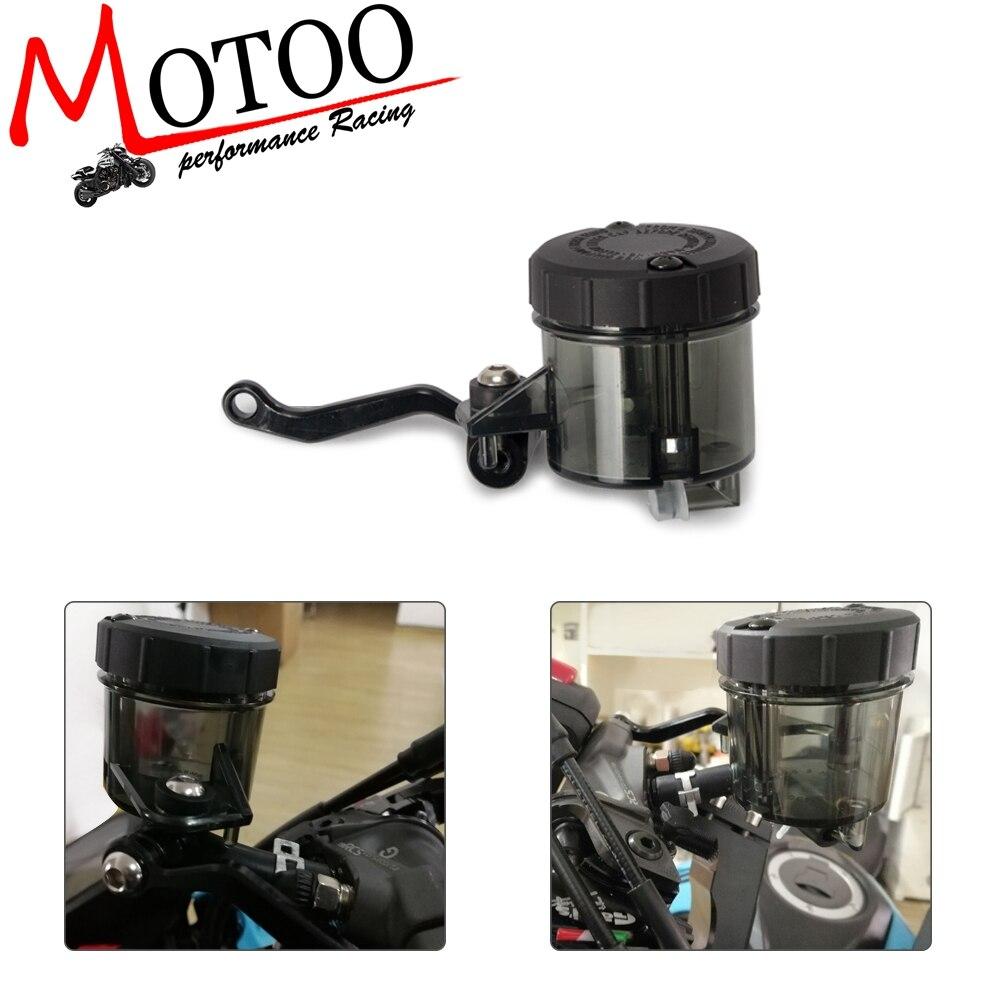 Botella hidraulica Universal CNC Aluminio Universal Billet Delantero Freno Embrague Tanque de la Motocicleta Dep/ósito de Fluido Taza de Aceite para Yamaha Honda Suzuki Tanque de Freno