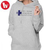 Женская толстовка с капюшоном Greys Anatomy, серая толстовка в стиле «Мемориал», худи большого размера для улицы, Модный хлопковый пуловер с капюш...