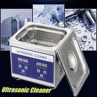 Ультразвуковой очиститель 1.3L 60 Вт нержавеющая сталь цифровой домашний ультразвуковой нагреватель таймер бак прибор коммерческий промышле