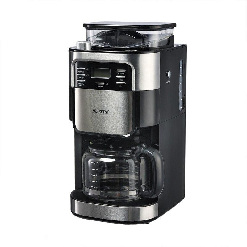 SANQ BARSETTO Household Automatic Coffee Machine Bean Flour Grinding Coffee Maker-EU PlugSANQ BARSETTO Household Automatic Coffee Machine Bean Flour Grinding Coffee Maker-EU Plug