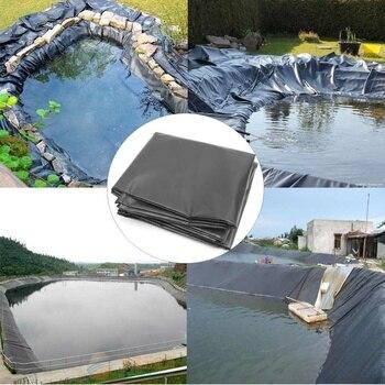 HDPE Fish Pond Liner Membrana De Borracha À Prova D' Água Da Lagoa Do Jardim Paisagismo Piscina Forro Grosso Pano 6x8 M/6 X 7 M/6x6 M/6x5 M/6x4 M