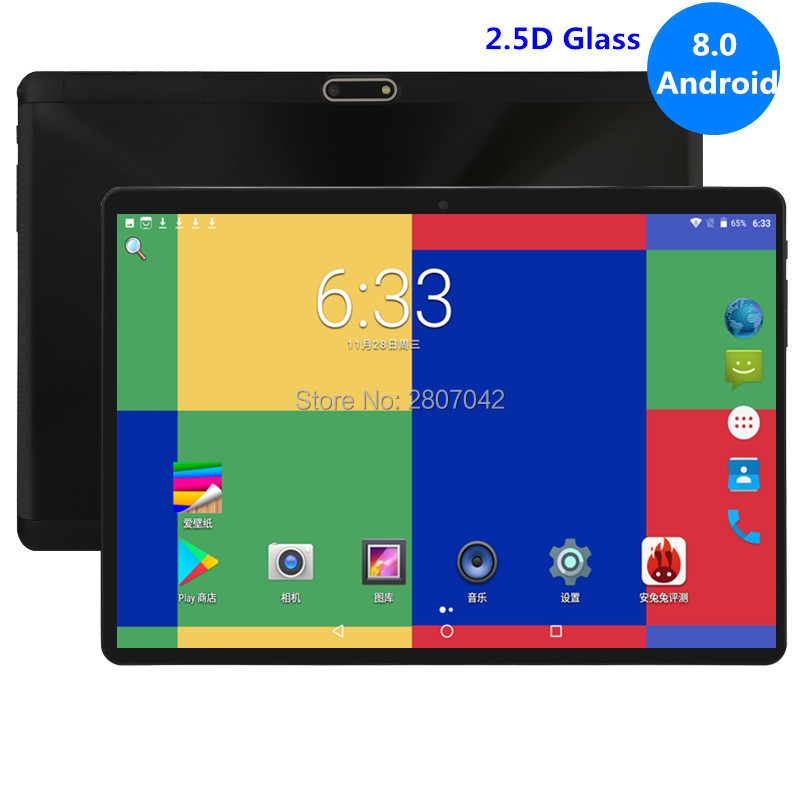 Super 2.5D Tempered Glass IPS 10 Inch Tablets 4GB RAM 64GB ROM <font><b>MTK8752</b></font> Octa Core 3G 4G LTE FDD Dual Sim Cards PC Tablet PC 10.1 image